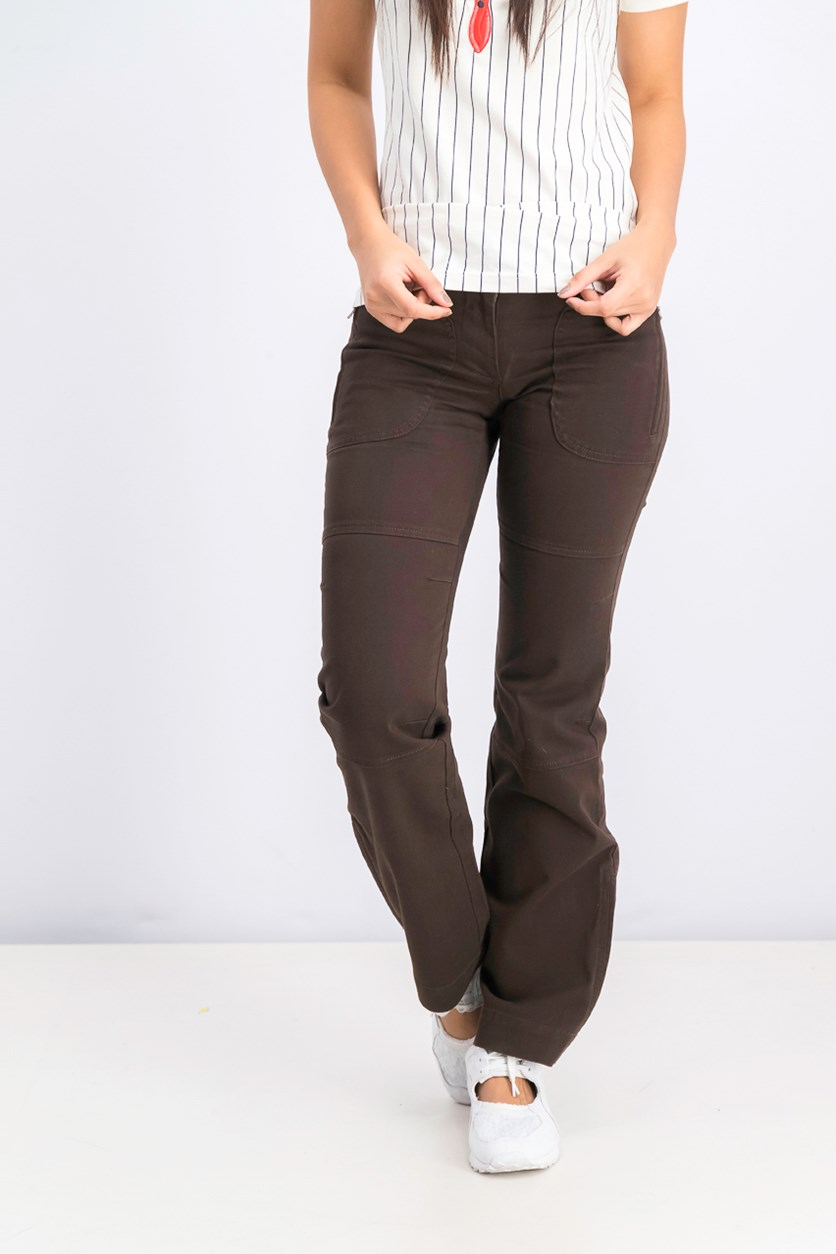 Women's Chino Pants, Dark Brown