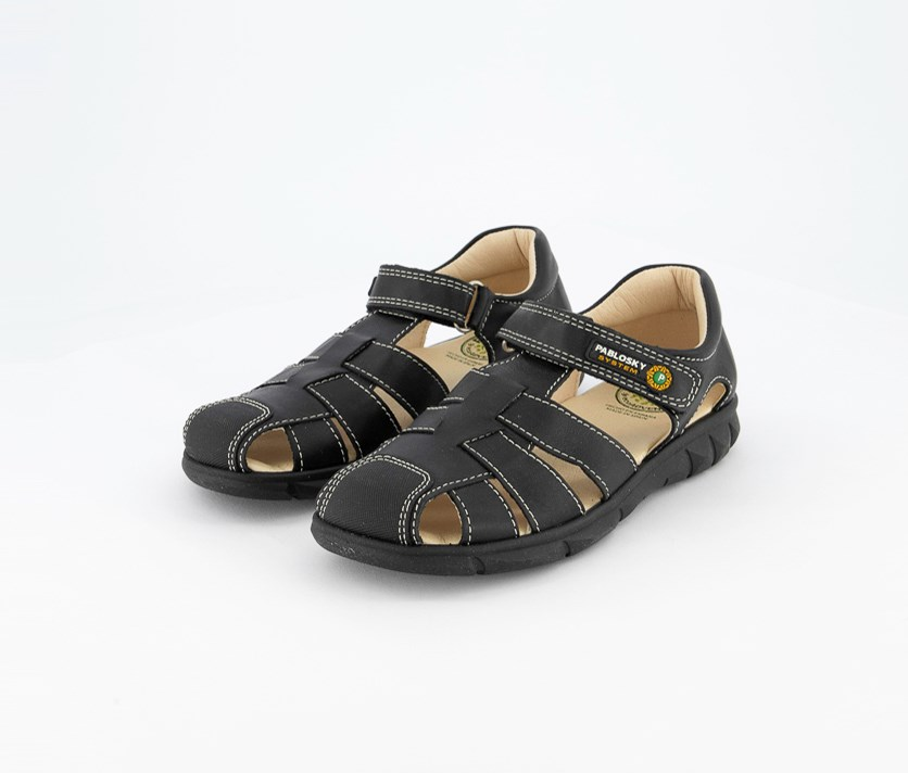 Kids Boy's Fisherman Sandals, Black