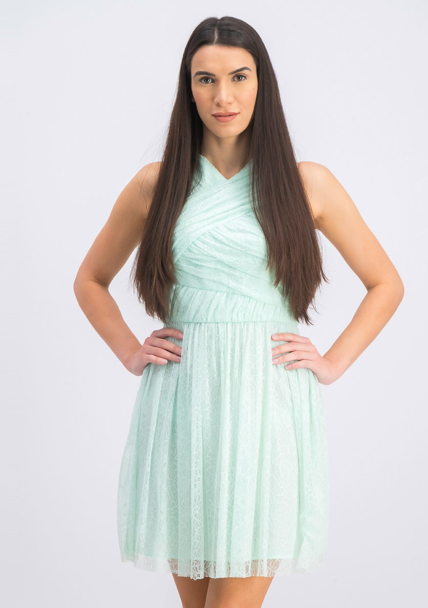 Women's Lace Dress, Green Water