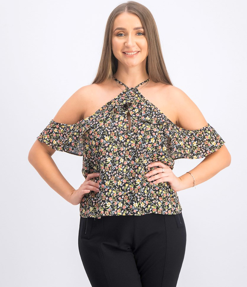Women's Off-shoulder Top, Black Combo