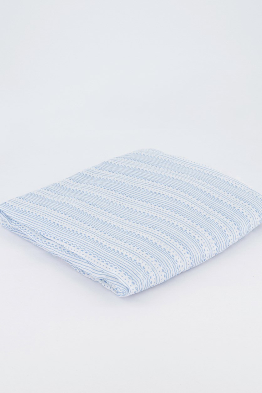 Women's Stripe Scarf, Blue/White