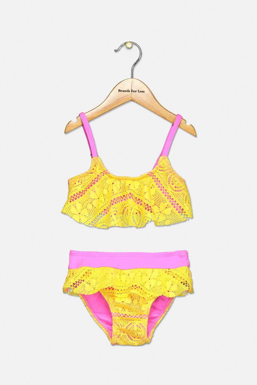 Toddler 2Pc. Dory Bikini Set, Yellow/Pink