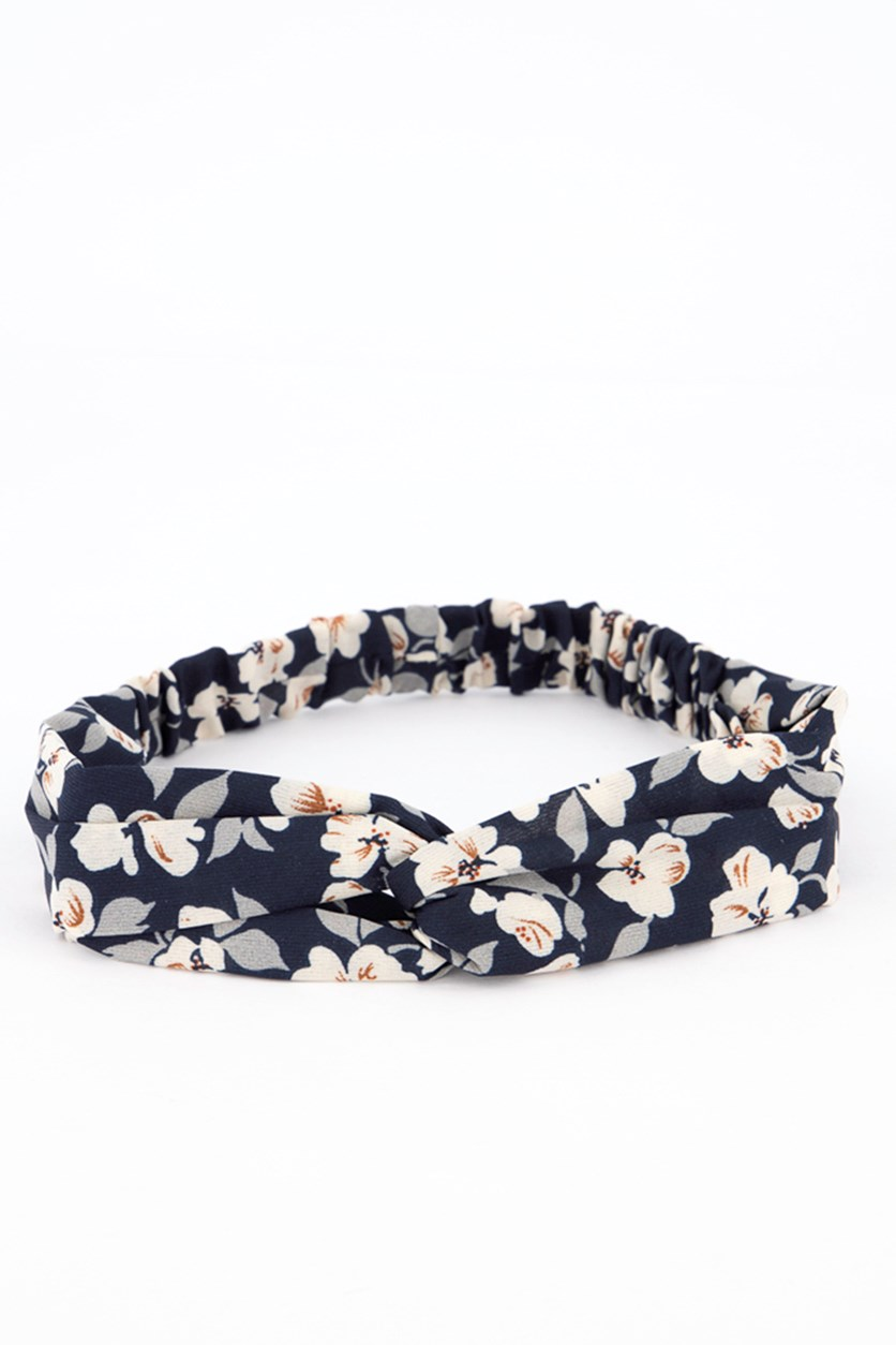 Fashionable Fabric Headband, Navy