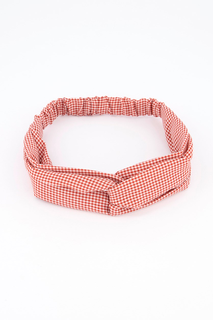 Fashionable Fabric Headband, Red