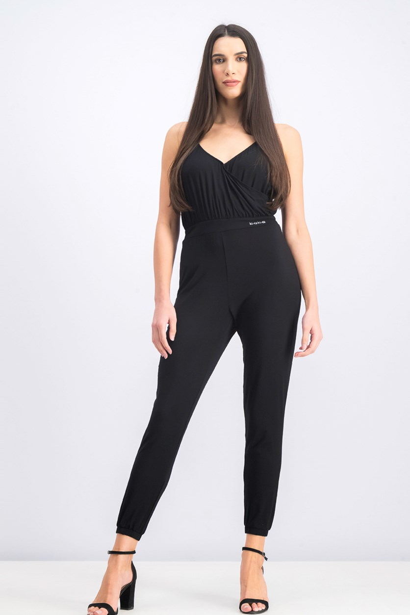 Women's Sleeveless Jumpsuit, Black