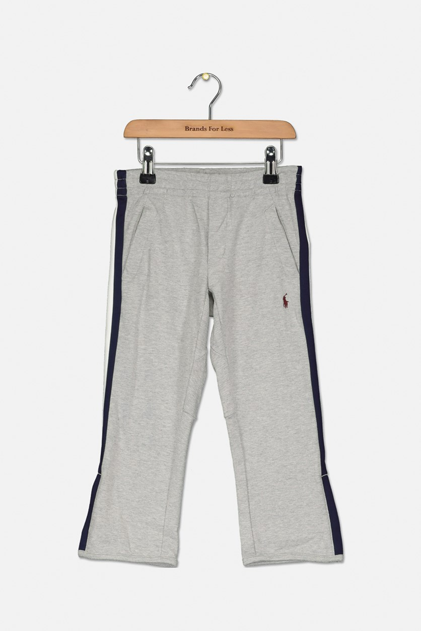 Toddler Interlock Pants, Grey Heather