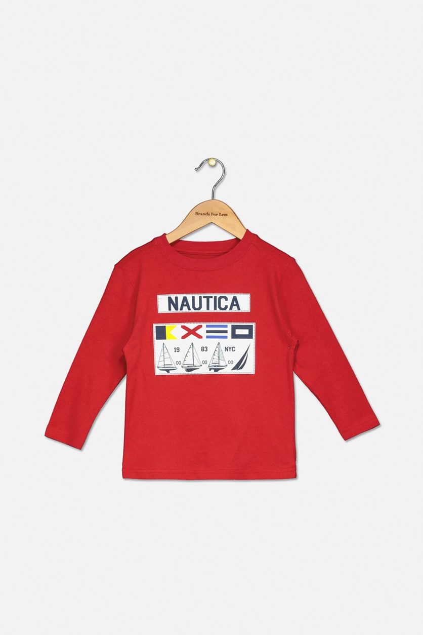 Toddler Boy's Gio Long-Sleeve Tee, Carmine