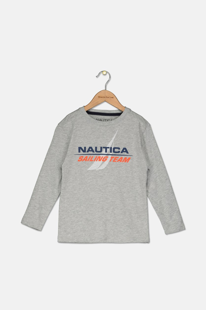 Little Boys' ' Sailing Team' Cristiano Long-Sleeve Tee, Grey Heather