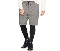 Denim & Supply Ralph Lauren Men's Layered Shorts and Leggings, Grey/Black