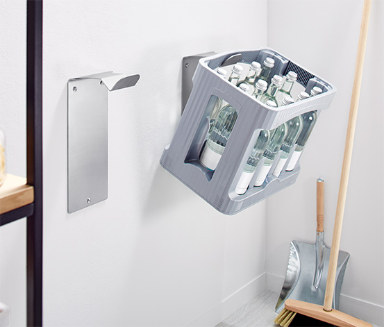 Drinks Crate Holders Set of 2, Gray