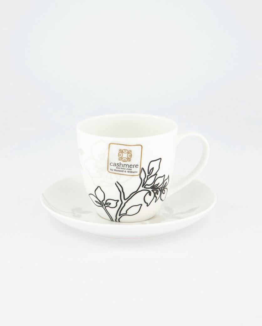 Porcelain Cup With Saucer, White