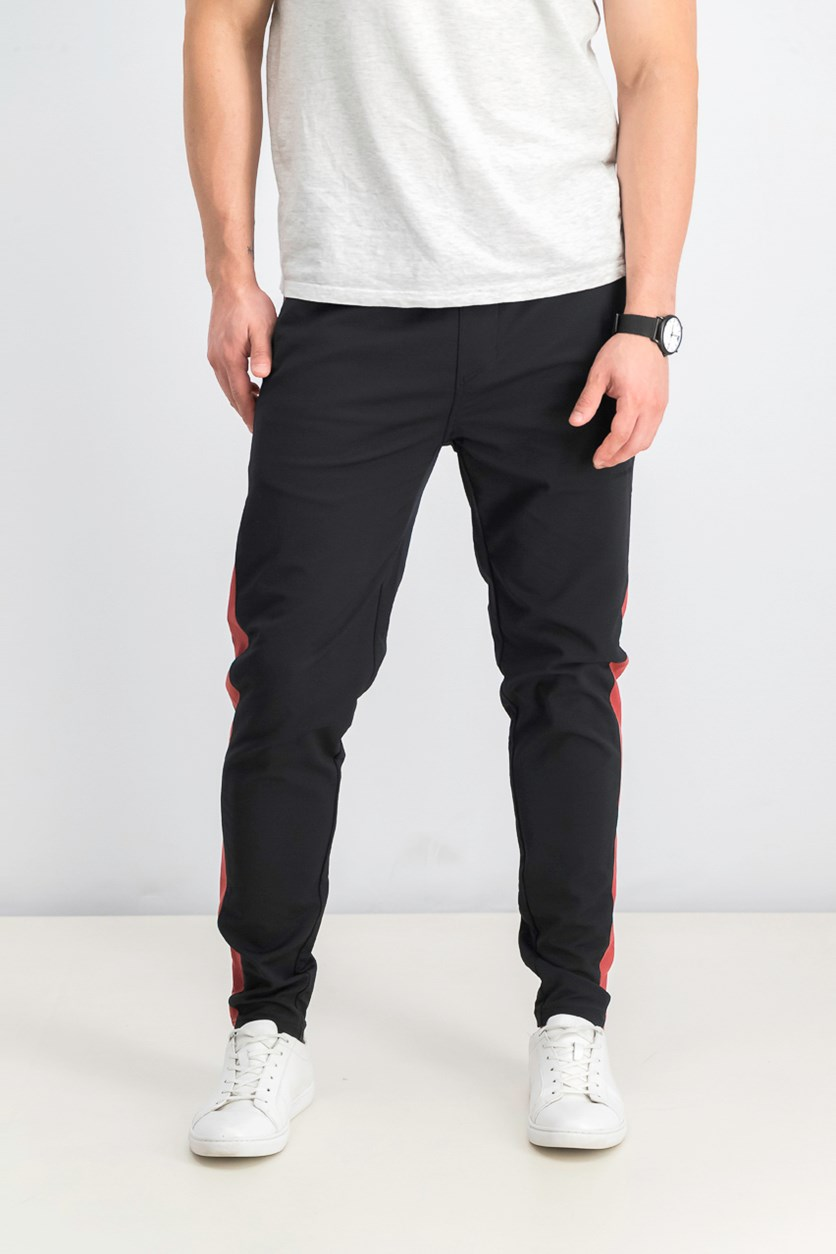 Men's Jumpshot Track Pants, Black/Vintage Red