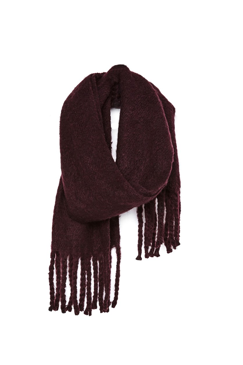 Women's Textured Scarf, Plum