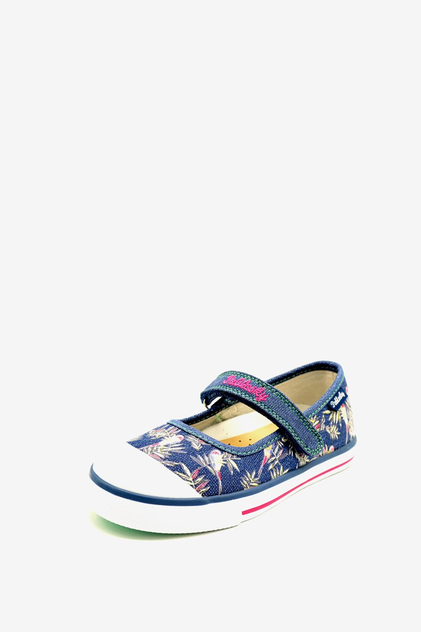 Kids Girl's Canvas Denim Shoes, Blue