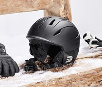 In-Mold Ski and Snowboard Helmet, Black