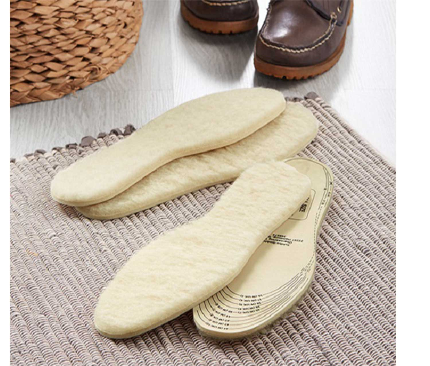 2 Pairs Of Lambswool Insoles, Cream