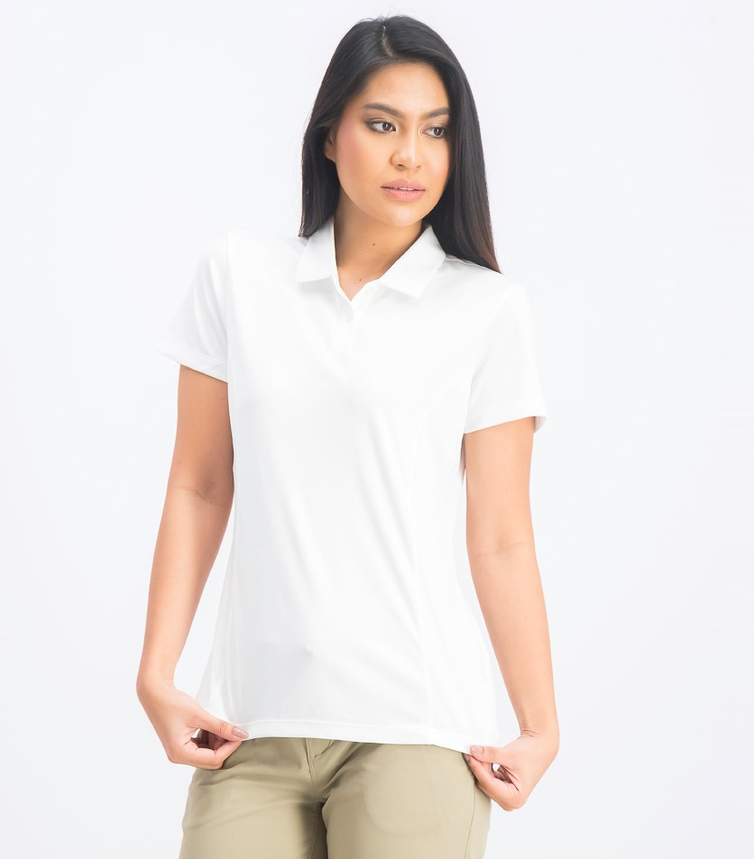 Women's Essential Pounce Polo, White