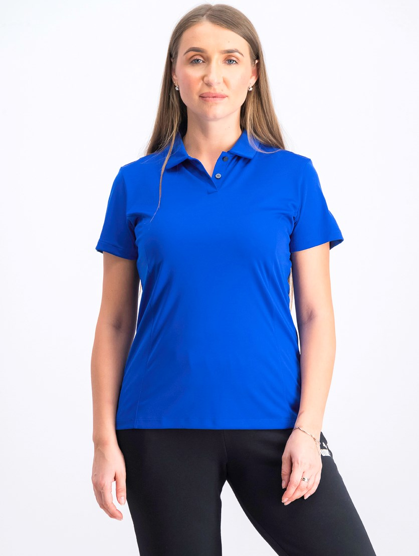 Women's Essential Pounce Polo, Surf Blue