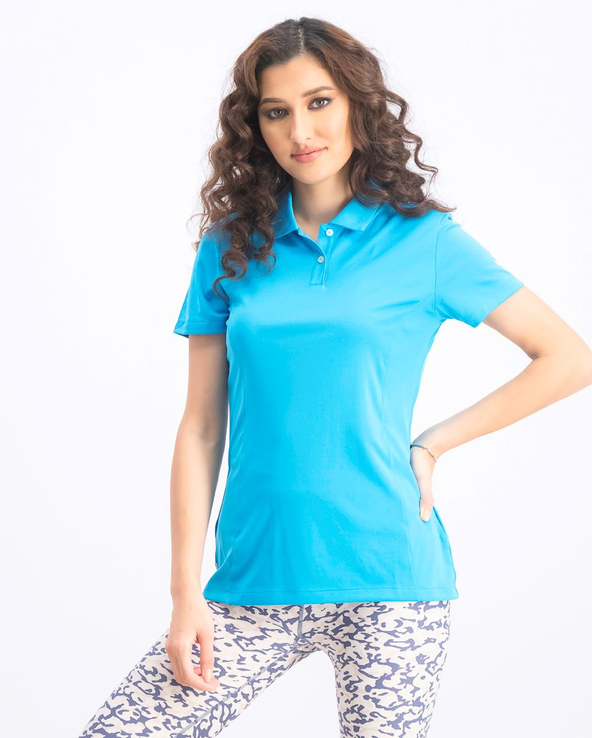 Women's Essential Pounce Polo, Atomic Blue
