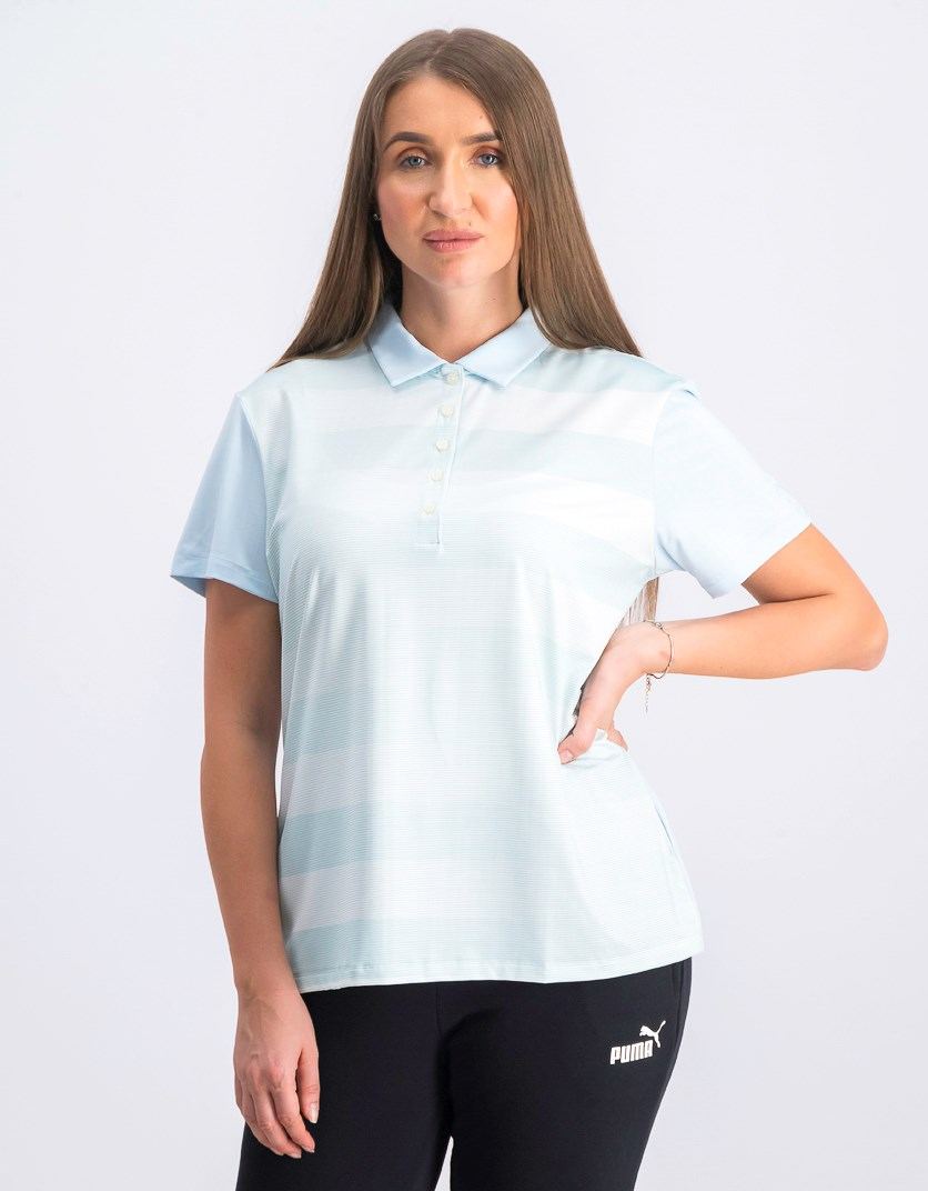 Women's Stripe Crossfade Polo, Skylight