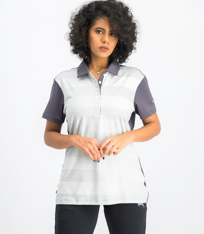 Women's Short Sleeve Crossfade Polo, Periscope
