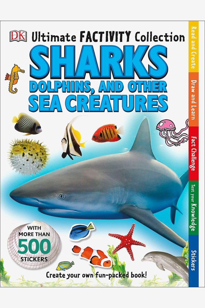 Ultimate Factivity Collection: Sharks, Dolphins, and Other Sea Creatures Activity Books, White Combo