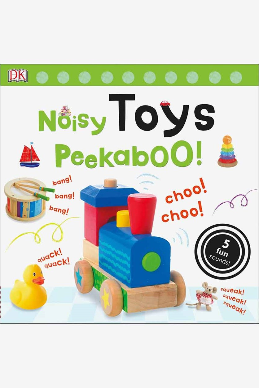 Noisy Toys Peekaboo! 5 Fun Sounds, White Combo