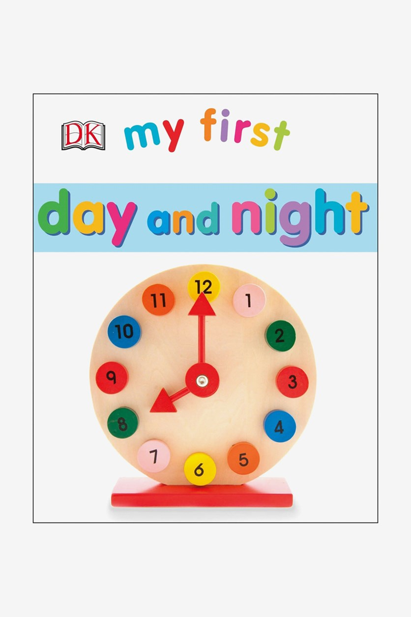 My First Day and Night Board Book, White Combo