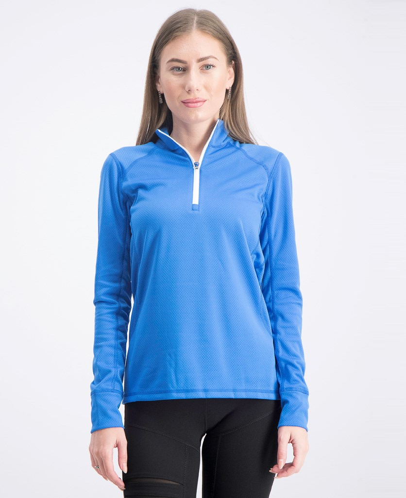 Women's Golf Tech Half-Zip Top, Blue