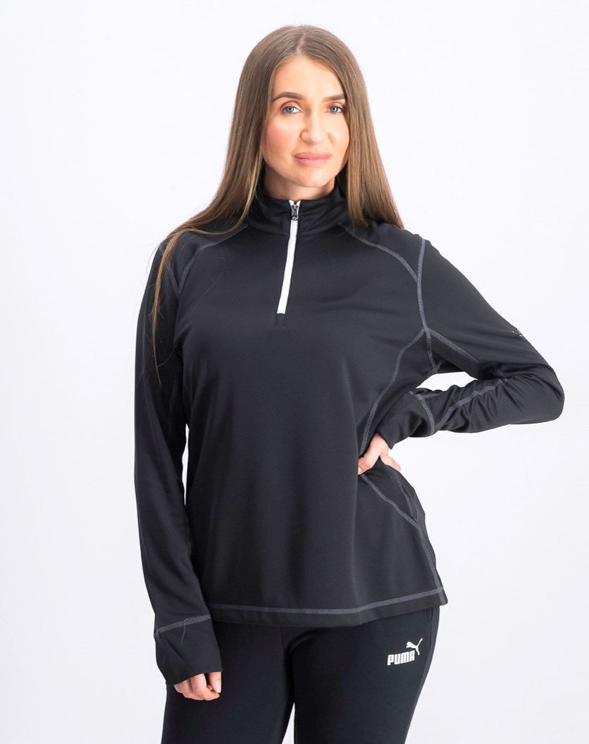 Golf Tech Half Zip Top, Black