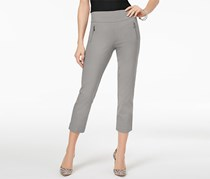 Inc International Concepts Cropped Straight-Leg Pants, Sky Gray
