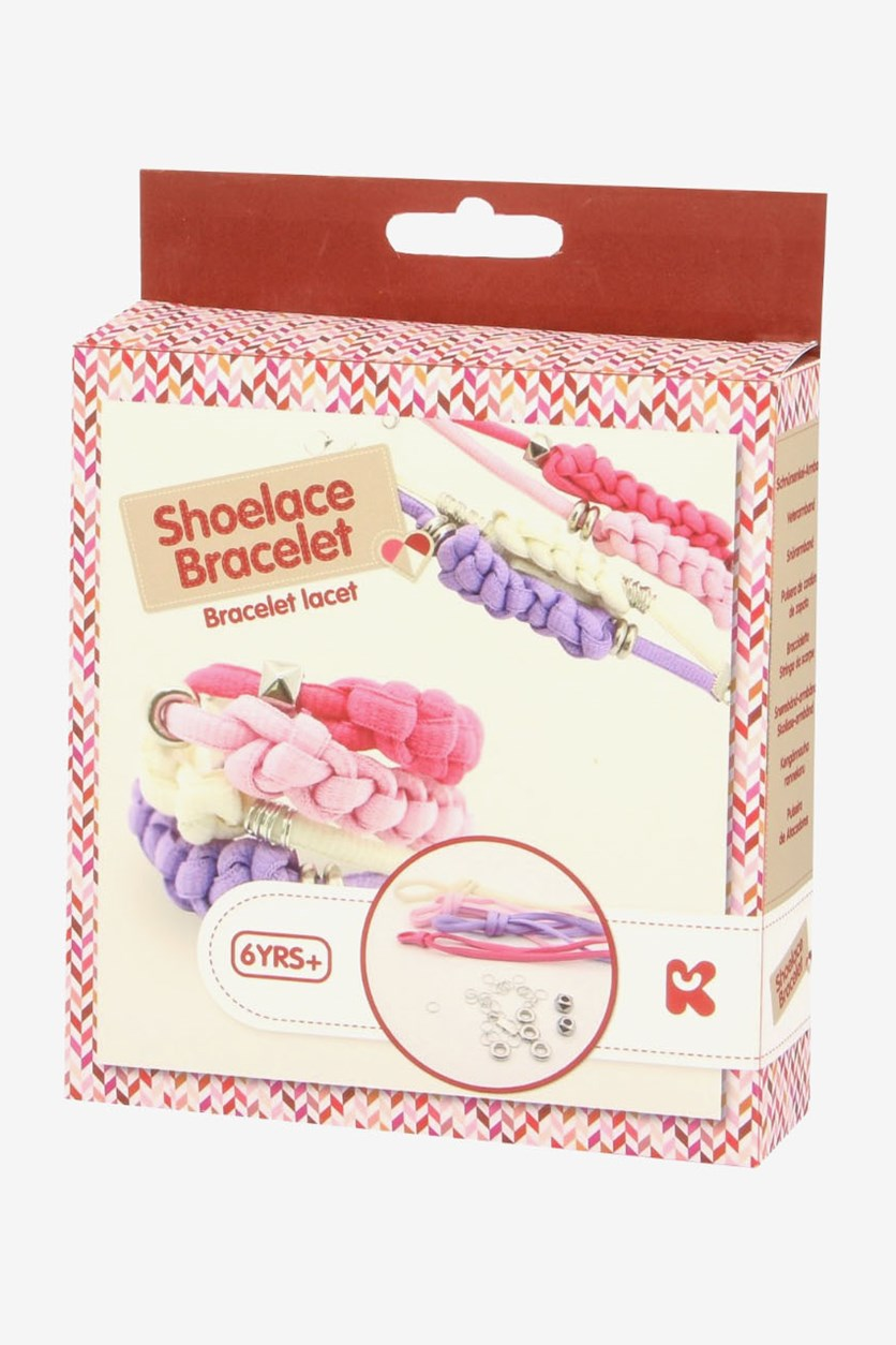 Make Your Own Shoelace Bracelet Kit, Pink Combo