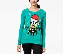 Hybrid Juniors's Minion Pullover Sweater, Green