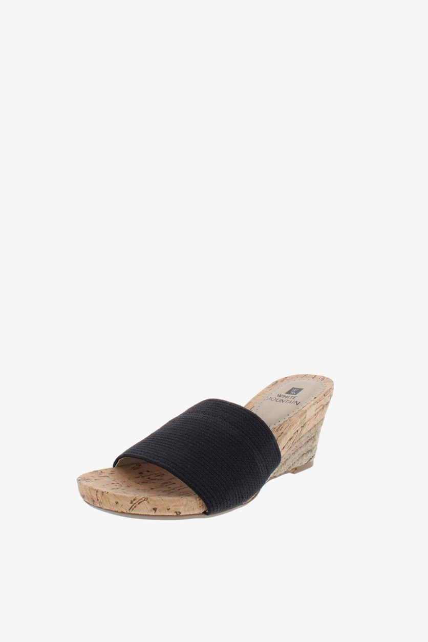Women's Wedge Slide Sandal, Black