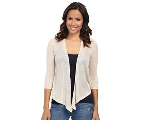 Nic+zoe Women's 4 Way 3/4 Sleeves Cardigan, Sandshell