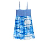 Roxy Big Girl's Striped Top Tie-Dye Dress, Blue