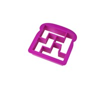 Bites and Pieces Sandwich Cutter, Purple