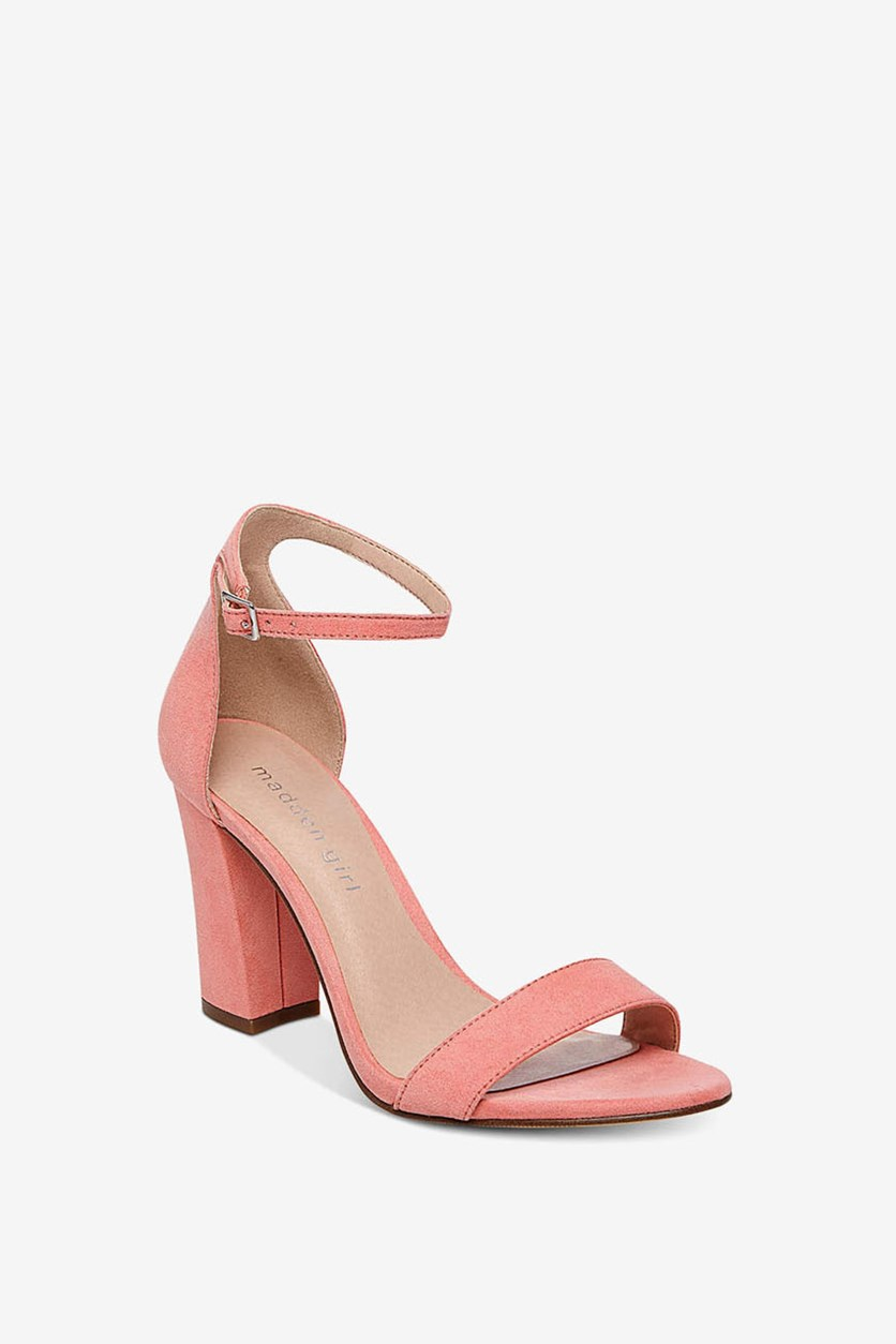 Bella Two-Piece Block Heel Sandals, Coral