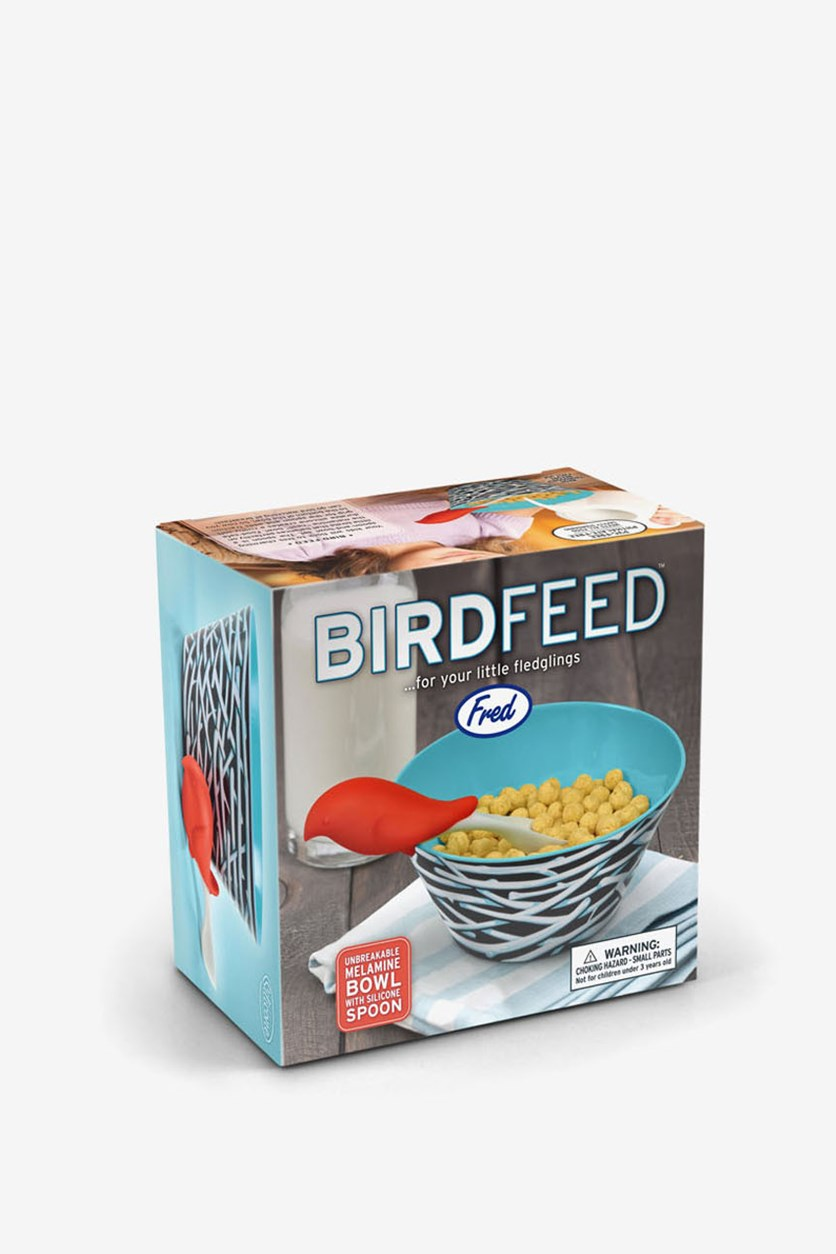 Bird Feed Spoon And Bowl Set, Blue