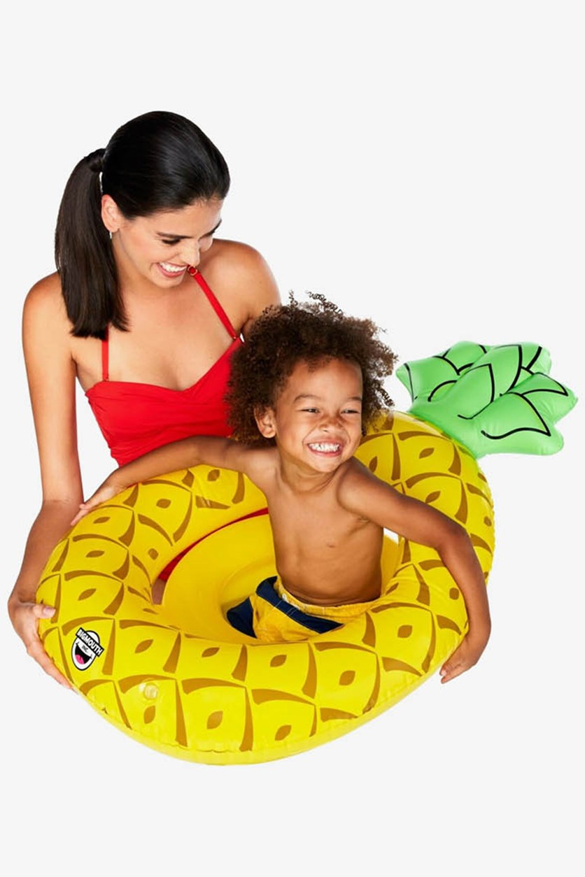 Vinyl Inflatable Pineapple Baby Float, Yellow