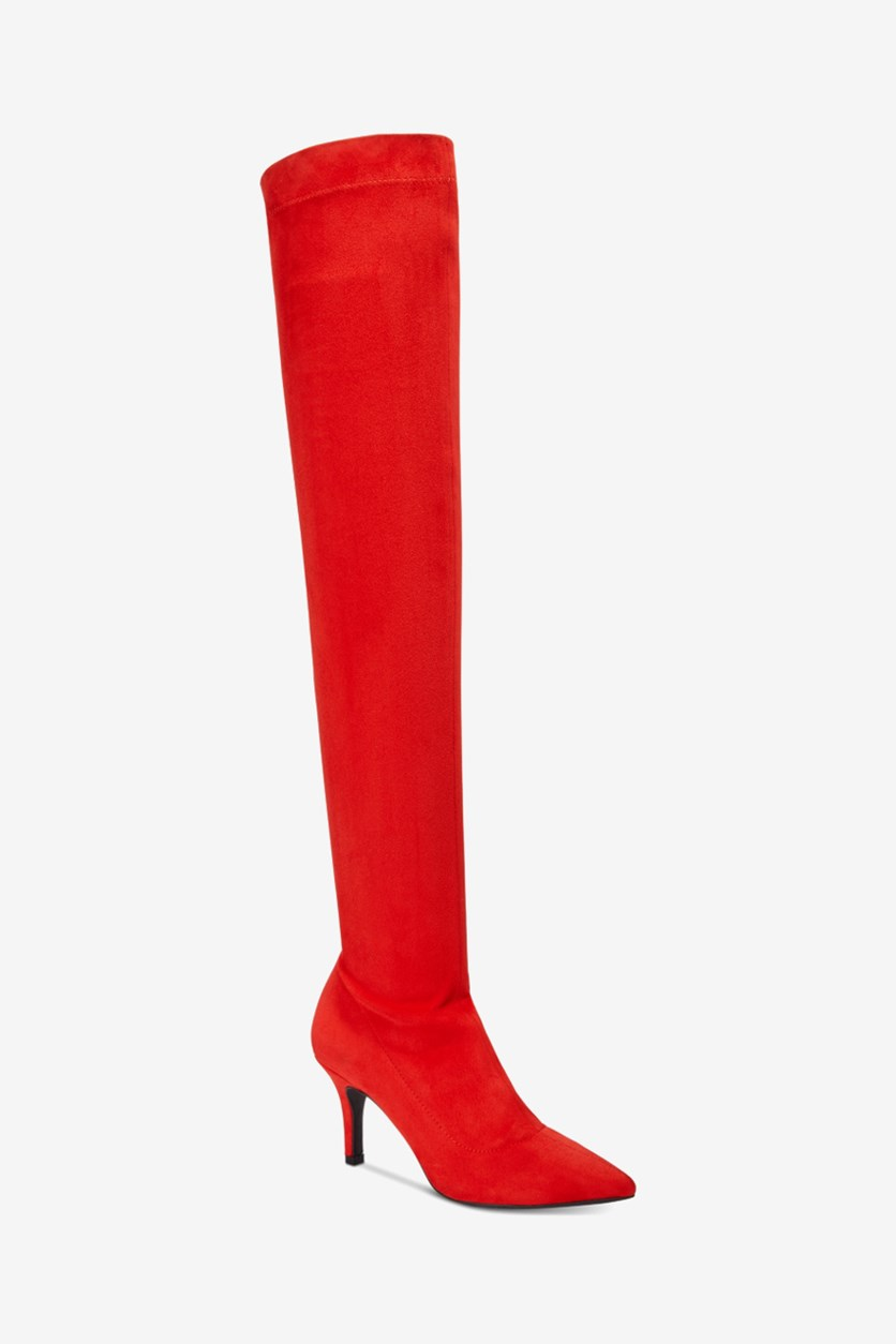 Briella Over The Knee Boots, Red Lava