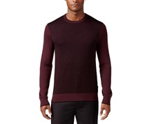 Michael Kors Men's Colorblocked Herringbone Sweater, Burgundy