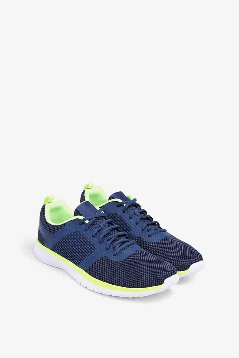 Men's PT Prime Running Shoes, Blue/Navy/Lime Green