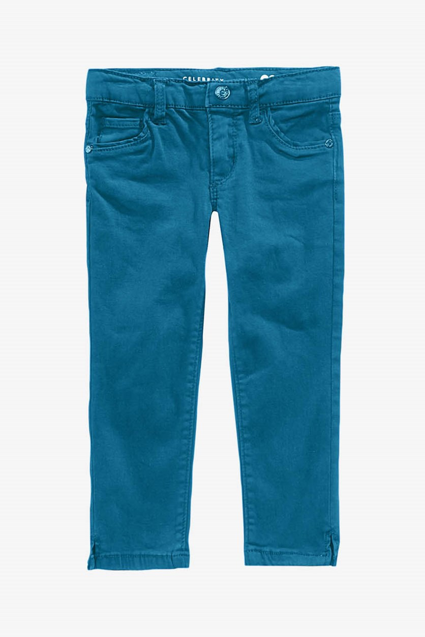 Girl's Super Soft Ankle Jeans, Moroccan Blue