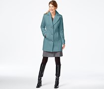 Calvin Klein Women's Quilt-Lined Walker Coat, Blue
