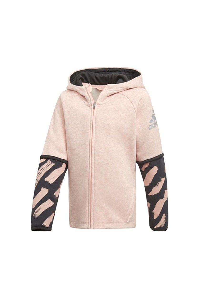Toddler Cover-Up Hoodie, Pink Combo