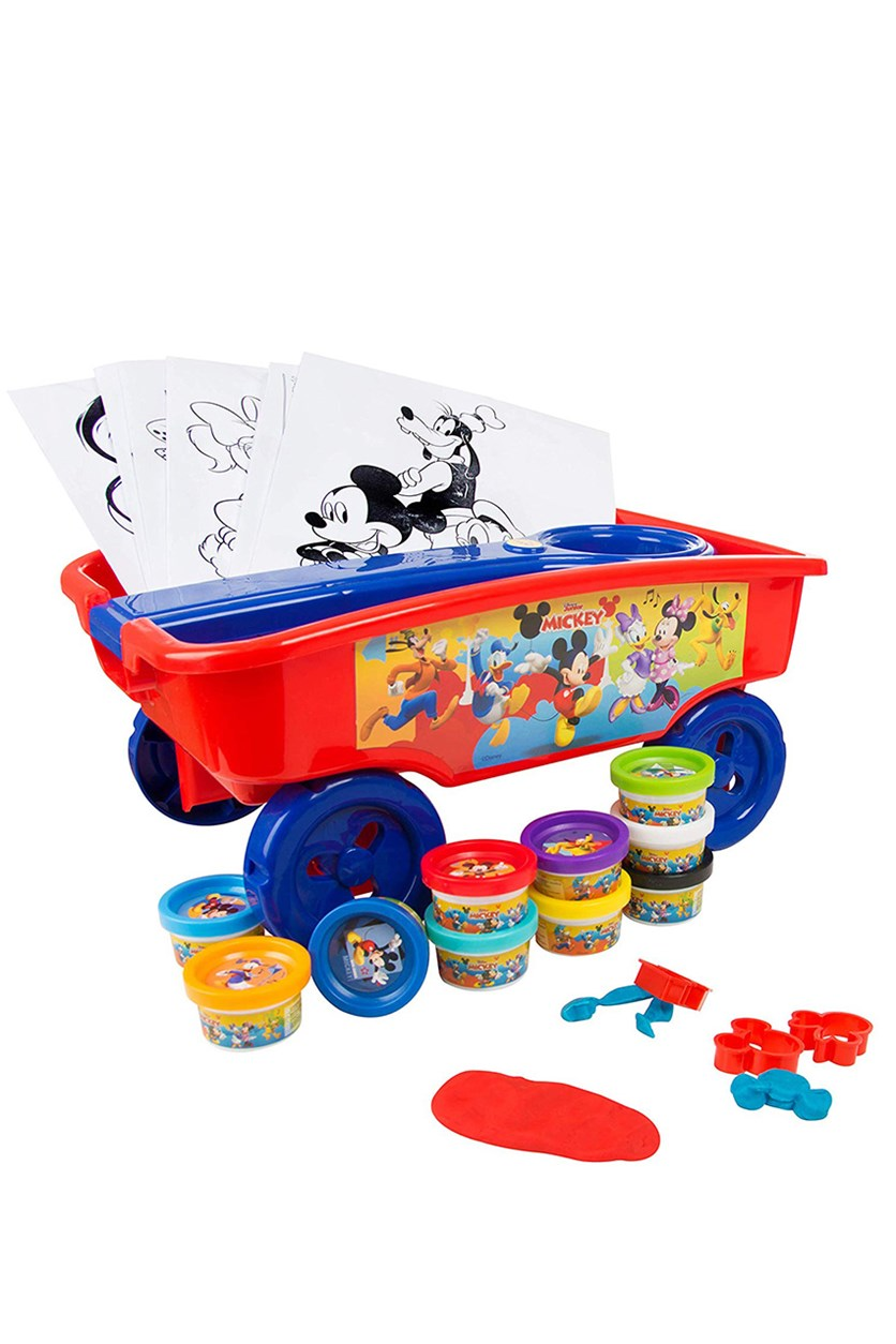 Mickey Mouse Plastic Cart, Red
