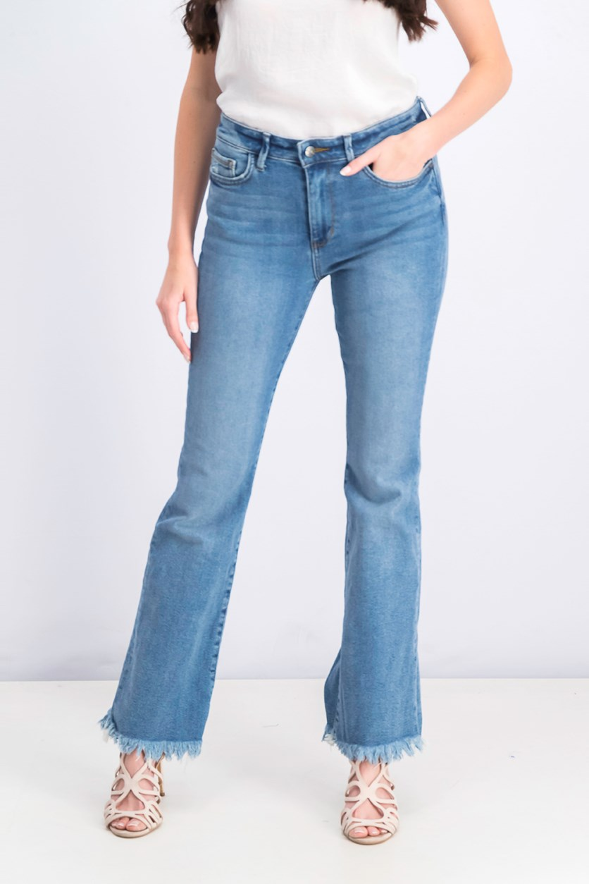 Women's Stiletto High-Rise Bootcut Jeans, Blue