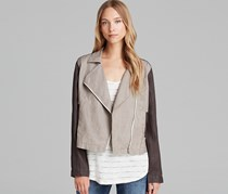 Eileen Fisher Linen Color Block Jacket, Stone
