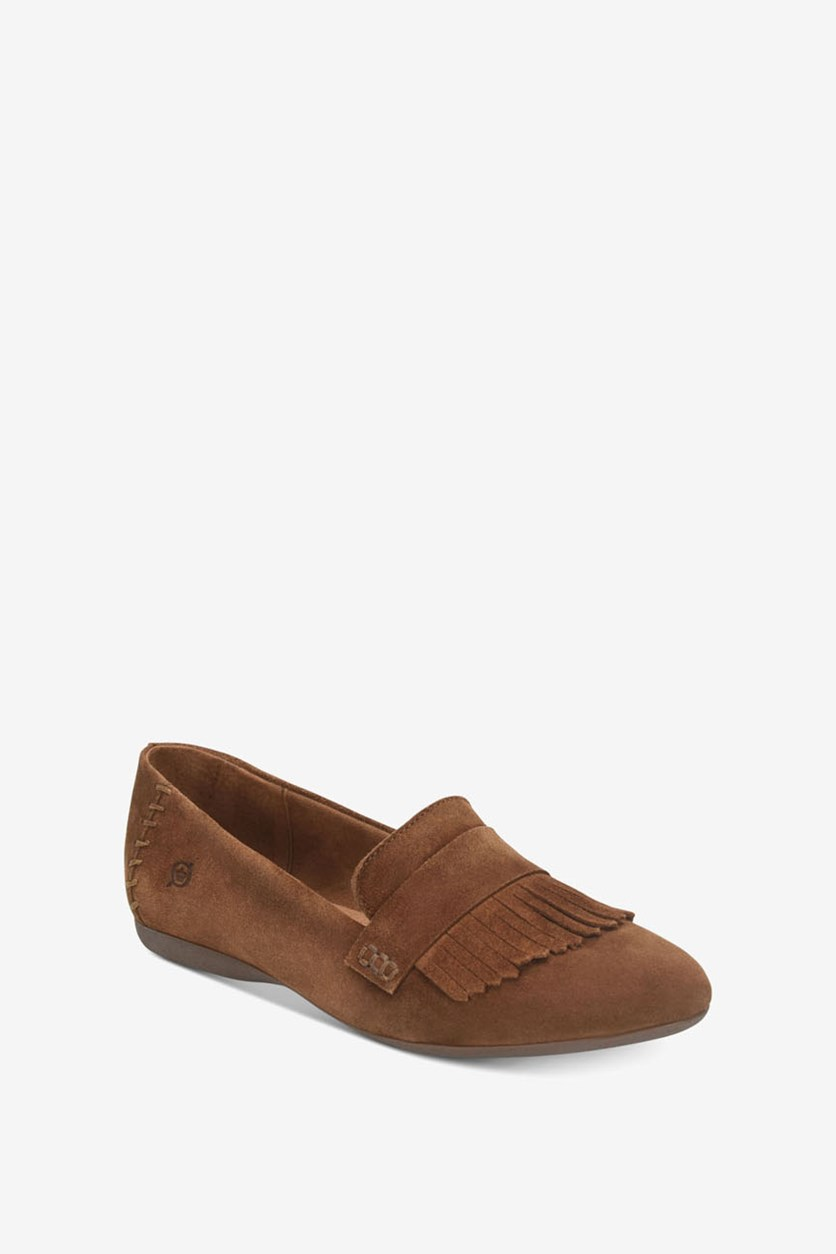 Women's McGee Slip-On Moccasins 437 Flats, Brown
